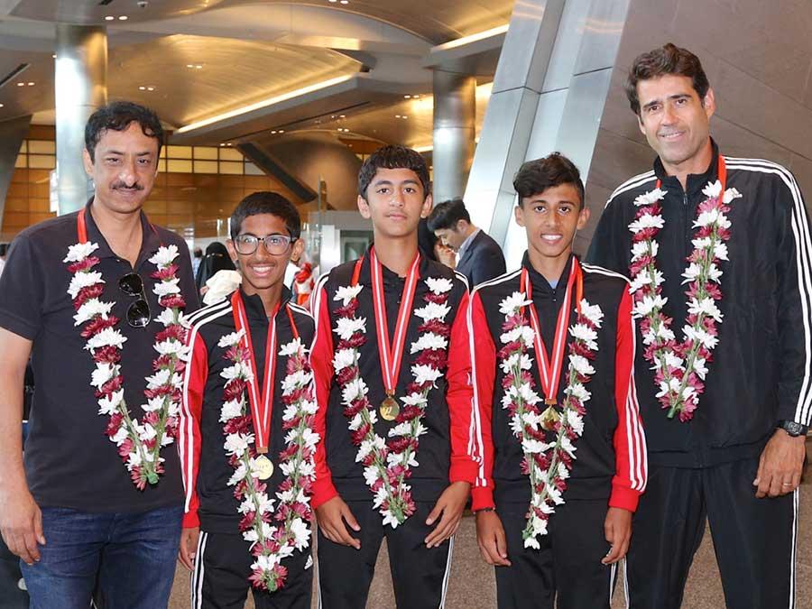 Qatar Junior Tennis team return to a warm welcome