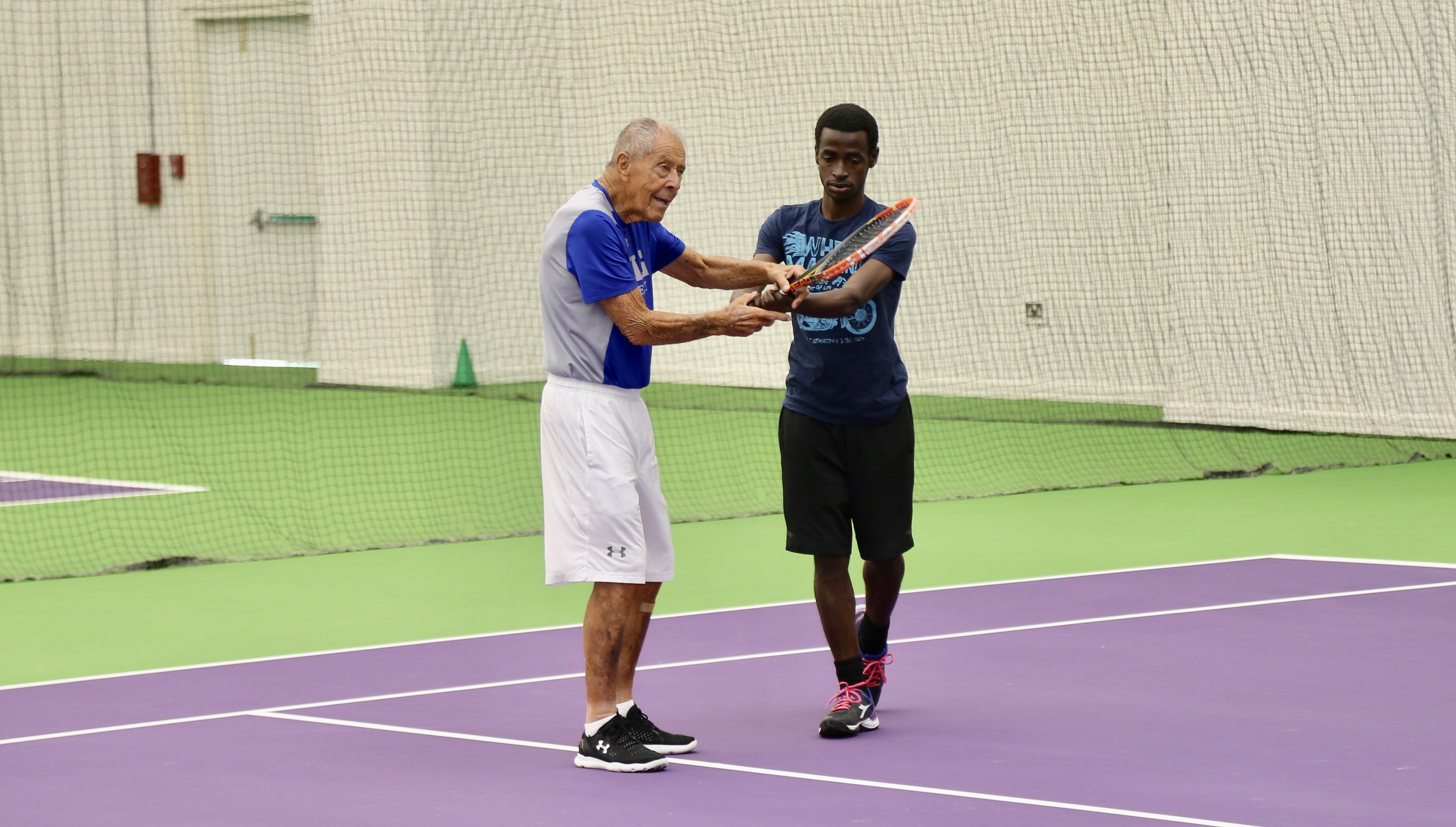 Tennis Legend Nick Bollettieri visits Doha