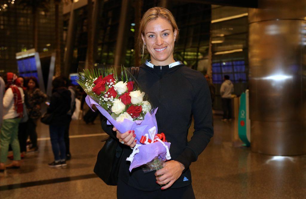 Kerber Arrives in Doha